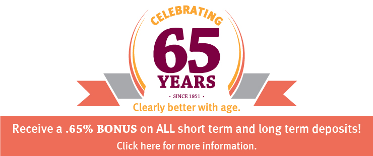 anniversary, 65, term deposits, bonus rates