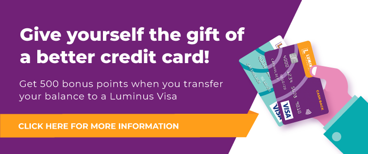 Get 500 Bonus Points When You Transfer To A Luminus Visa
